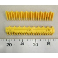 Демаркационная линия (накладка) фронтальная, желтая, L=180,8 мм; 20 зубов, KONE