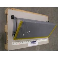 Ступень 1000 мм, серебристая,  с роликами, c 3-хстор. желтой демаркацией , для эскалатора KONE ECO3000