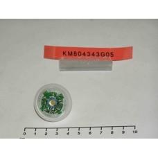 Базовый элемент кнопки приказа KONE KSS Открывания Дверей белый ободок, янтарн подсветка